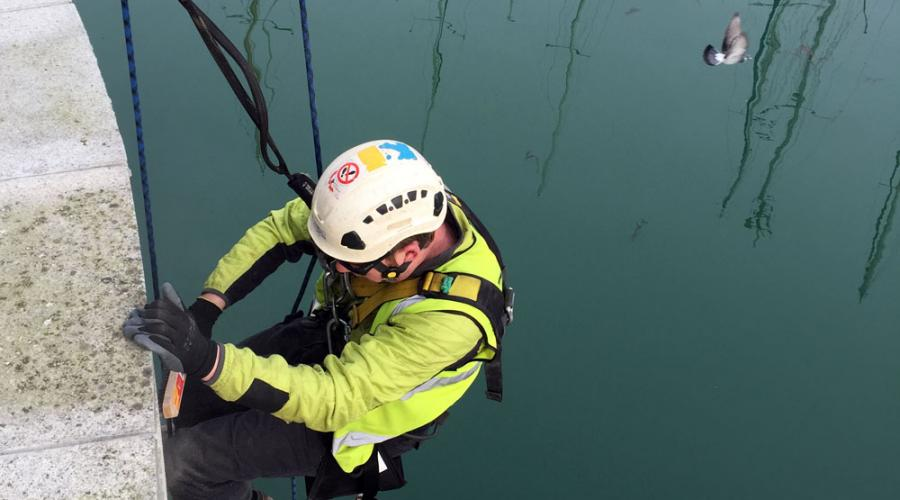 Rope Access from above
